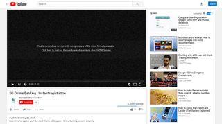 SG Online Banking - Instant registration - YouTube