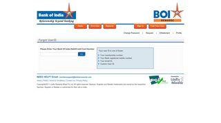 Forgot UserID? - BOI Star Rewardz | Welcome to the World of ...