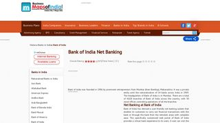 Bank of India (BOI) Net Banking Features, Online Banking Services ...