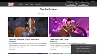 The latest news from the horse game Star Stable Online!   Star Stable