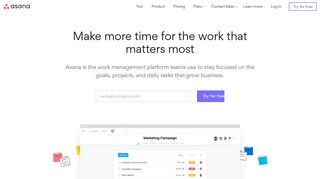 Use Asana to manage your team's work, projects, & tasks online · Asana