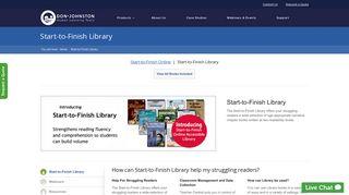 Don Johnston Inc. | Start-to-Finish Library