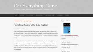 How to Finish Reading All the Books You Start - Blog - Get Everything ...