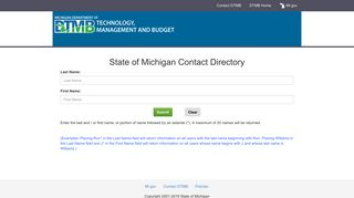 State of Michigan Contact Directory