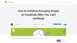 How to Unfollow Annoying People on Facebook (Who You Can't ...