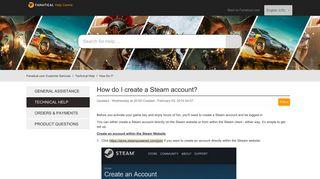 How do I create a Steam account? – Fanatical.com ... - Support