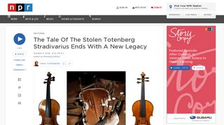 The Tale Of The Stolen Totenberg Stradivarius Ends With A New ...