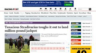 Tenacious Stradivarius toughs it out to land million-pound jackpot ...