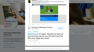 University of Strathclyde Library & IT on Twitter:
