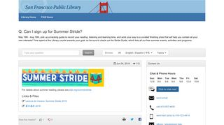 Can I sign up for Summer Stride? - FAQ