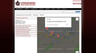 Schools - Stroudsburg Area School District