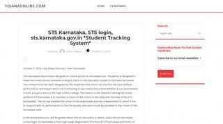 STS Karnataka, STS login, sts.karnataka.gov.in *Student Tracking ...