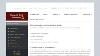 University of the Philippines Baguio - Office of the Director ... - UP Baguio