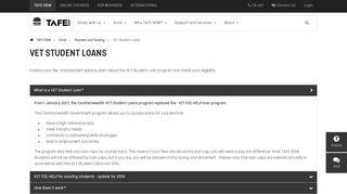 VET Student Loans - TAFE NSW