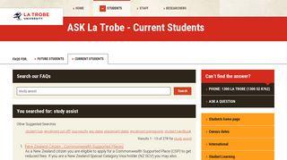 study assist - FAQs for Current Students, La Trobe University