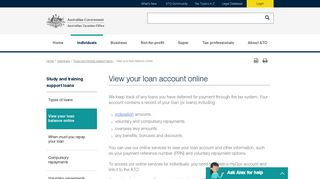 View your loan balance online | Australian Taxation Office