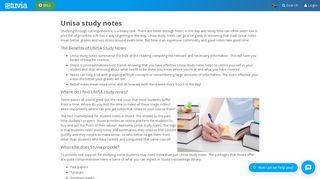 Unisa study notes - Stuvia