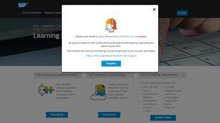 Learning Hub - SAP Certification