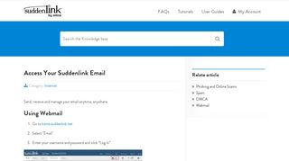 Access Your Suddenlink Email   Help Desk