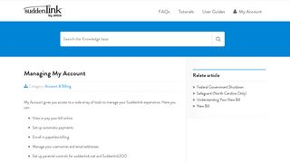 Managing My Account   Help Desk - Suddenlink