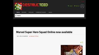 Marvel Super Hero Squad Online now available - Destructoid