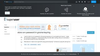 linux - store svn password in gnome-keyring - Super User