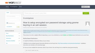 How to setup encrypted svn password storage using gnome keyring in ...