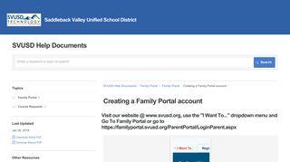 Creating a Family Portal account | Family Portal | SVUSD Help ...