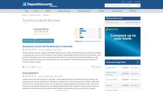 Synchrony Bank Reviews - Deposit Accounts