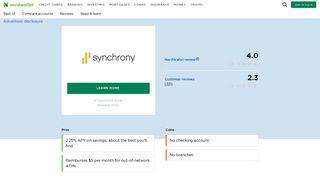 Synchrony Bank Reviews & Ratings - NerdWallet