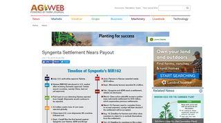 Syngenta Settlement Nears Payout   Agweb.com