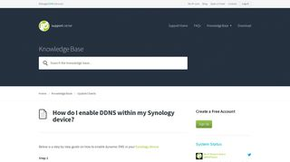 How do I enable DDNS within my Synology device? - No-IP