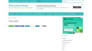 Tala login - Tala Loans Kenya