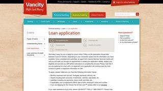 Loan application - Vancity