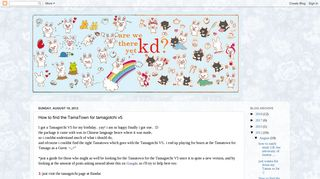 Kd & Co.: How to find the TamaTown for tamagotchi v5