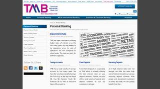 Personal Banking - Tamilnad Mercantile Bank