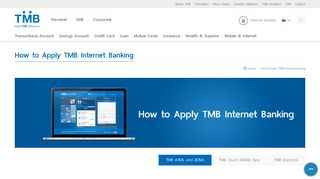 How to Apply TMB Internet Banking - TMB Bank Public Company Limited