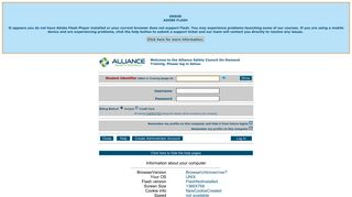 Welcome to the Alliance Safety Council On-Demand Training. Login