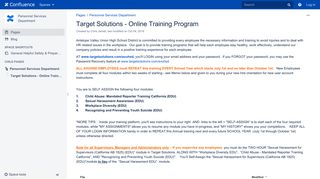 Target Solutions - Online Training Program - Personnel Services ...