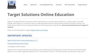 Target Solutions Online Education – Region XI Chicago EMS