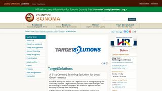 TargetSolutions - County of Sonoma, California