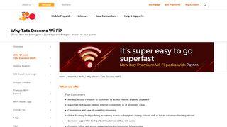 What We Offer   Internet WiFi - Tata Docomo