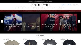 Welcome to Taylor Swift Official Online Store