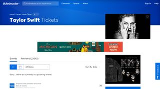 Taylor Swift Tickets | Taylor Swift Concert Tickets & Tour Dates ...