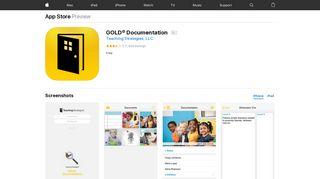 Teaching Strategies® GOLD™ Documentation on the ... - iTunes - Apple