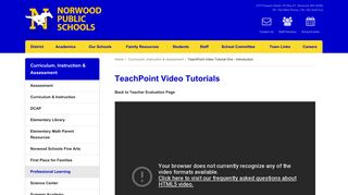 TeachPoint Video Tutorial One - Introduction | Curriculum ...