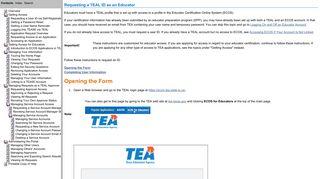 Requesting a TEAL ID as an Educator - TEA Login