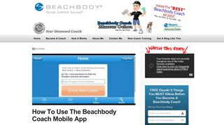 How To Use The Beachbody Coach Mobile App - Video Demo & Tips!