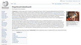 Fingerboard (skateboard) - Wikipedia