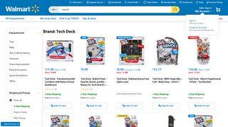 Brand: Tech Deck - Walmart